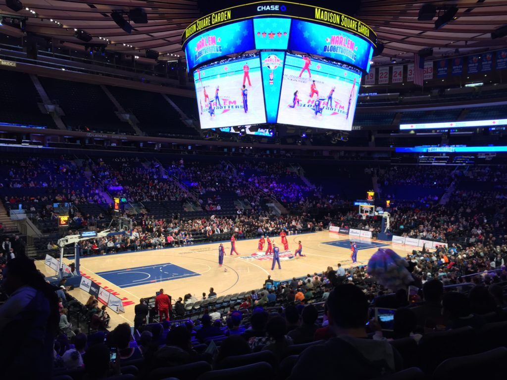 Family Day Out To See The Harlem Globetrotters At Madison Square Garden