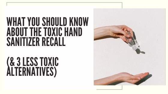 hand sanitizer recall methanol alternatives