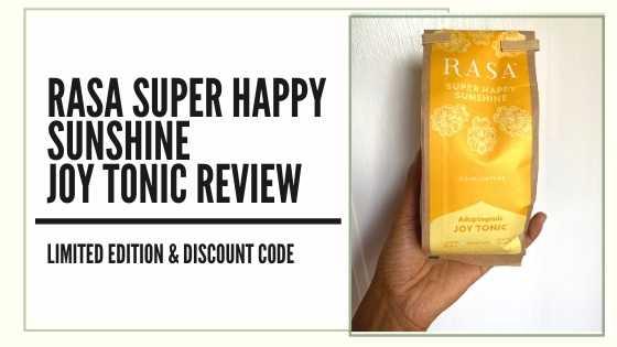 Rasa Coffee Alternative Super Happy Sunshine Joy Tonic Review